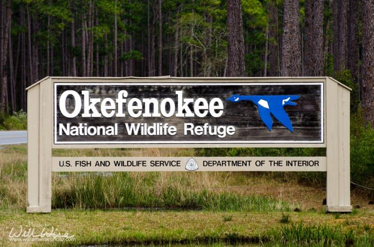 Okefenokee Swamp National Wildlife Refuge Georgia Sign